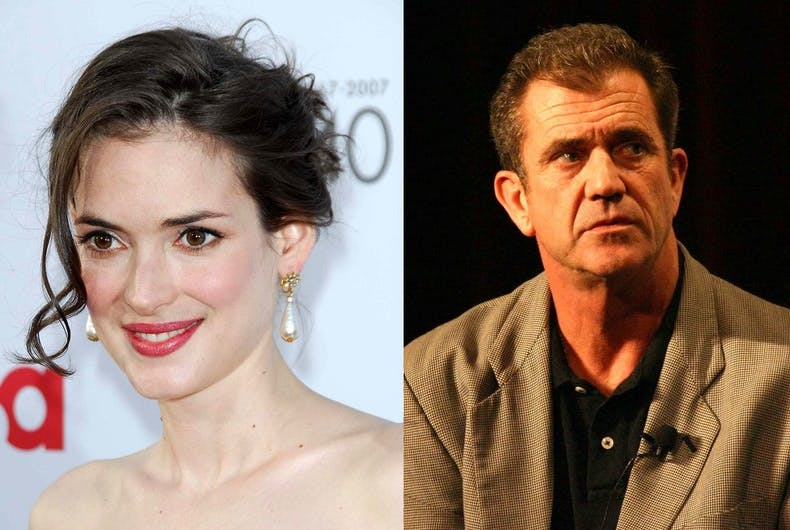 Winona Ryder and Mel Gibson