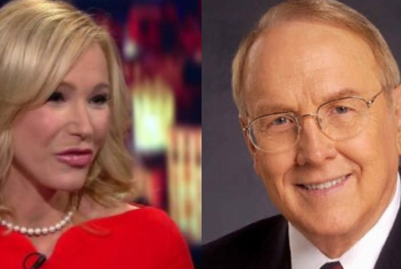 Paula White (left) and James Dobson (right) are both members of President Trump's evangelical council who took part in conference calls on SBA loans for religious organizations.