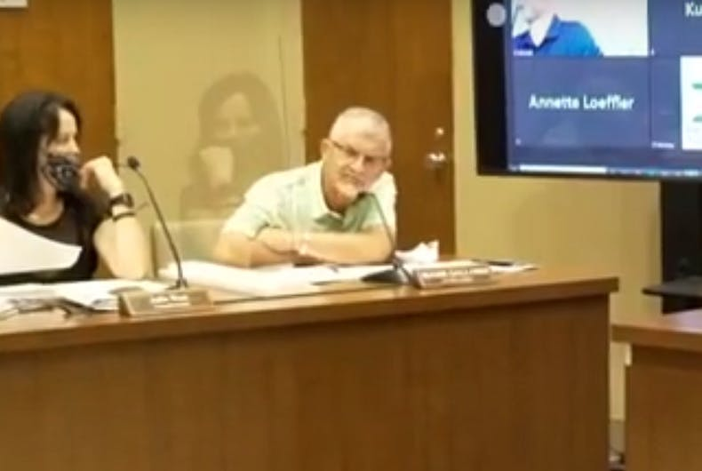 Roger Galloway at the city council meeting