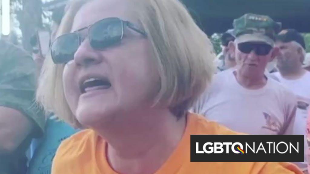 "Woman filmed calling Black Lives Matter protestor a ""gay homosexual piece of crap"""