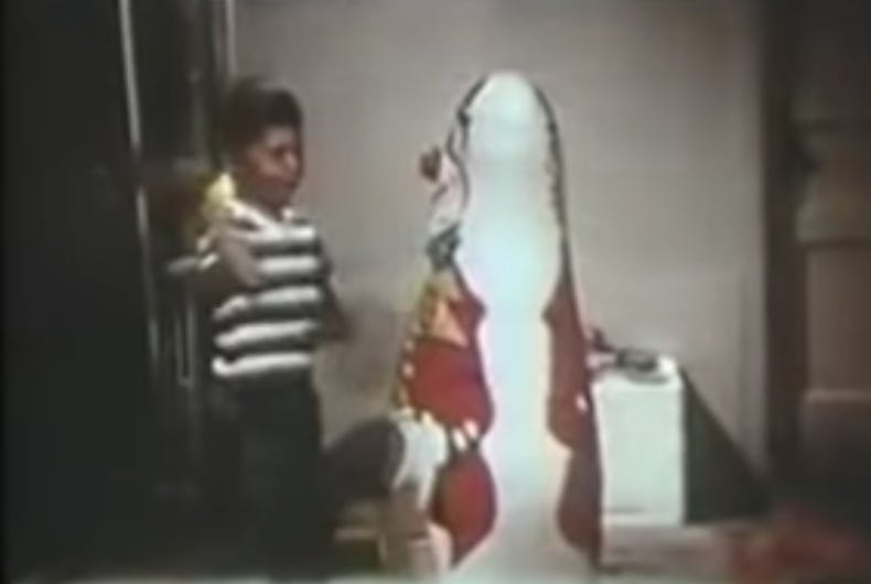 Scene from the Bobo Doll experiment