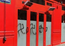 "Swastikas spray painted on gay bars during Paris' weekend of ""hatred"""