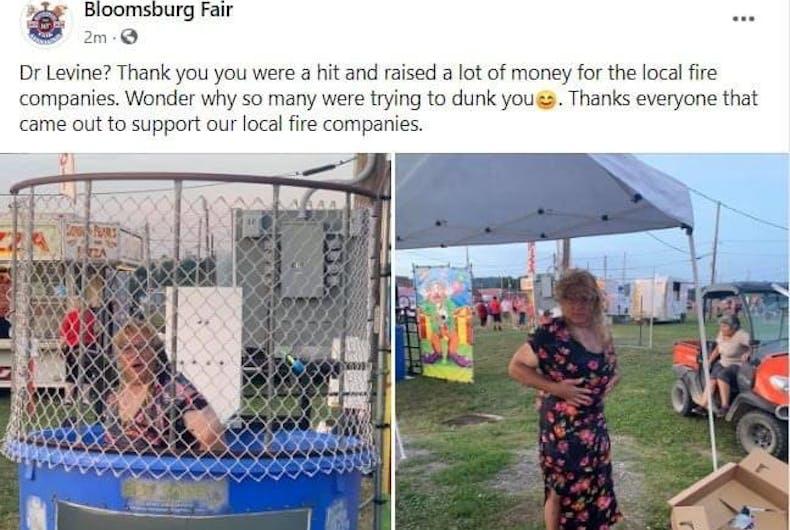 A publicação no Facebook da Bloomsberg Fair
