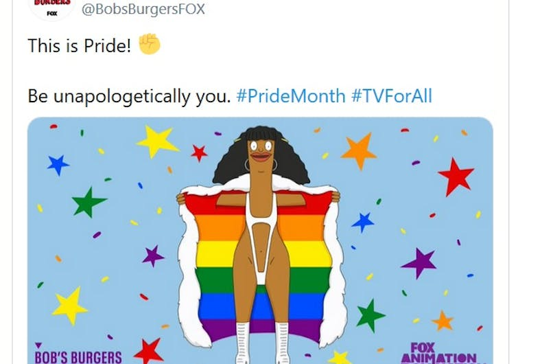 The show tweeted an image of Marshmallow for Pride.