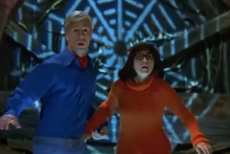 Freddie Prinze Jr. as Fred and Linda Cardellini as Velma in the trailer for