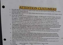 "Grocery store's sign about COVID masks says LGBTQ people ""spreads deadly diseases"""