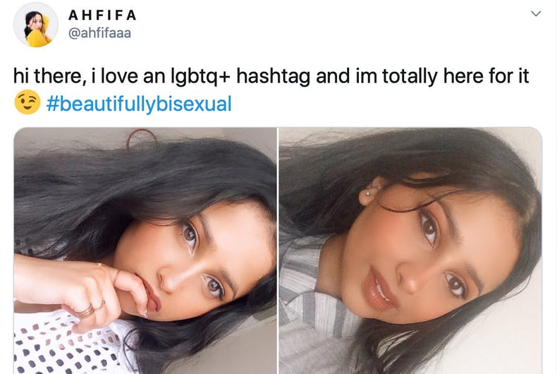 #beautifullybisexual has been trending on Twitter all day