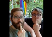 Gay couple's hilarious video message to the jerk who stole their pride flag goes viral