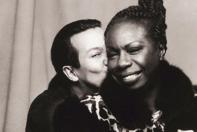 Michael Alago with Nina Simone, NYC, 1993.