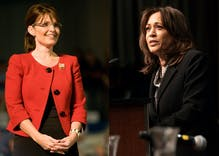"Sarah Palin says Kamala Harris ""prostituted"" herself to become vice presidential nominee"