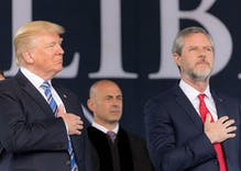 Jerry Falwell Jr gives a slurred apology & a bizarre excuse for naughty pic