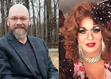 A drag queen whooped an anti-gay Democrat in the primary election. It was a landslide.