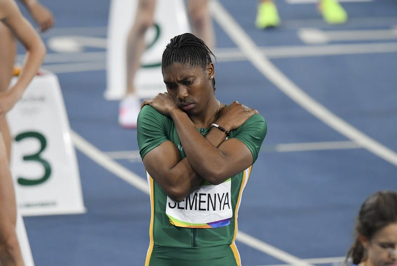 Caster Semenya at the 2016 Olympics in Rio de Janiero