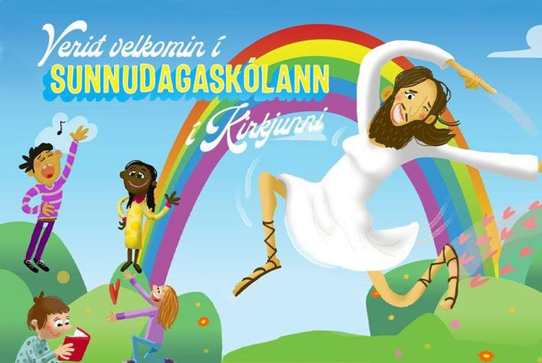 The ad from the Church of Iceland