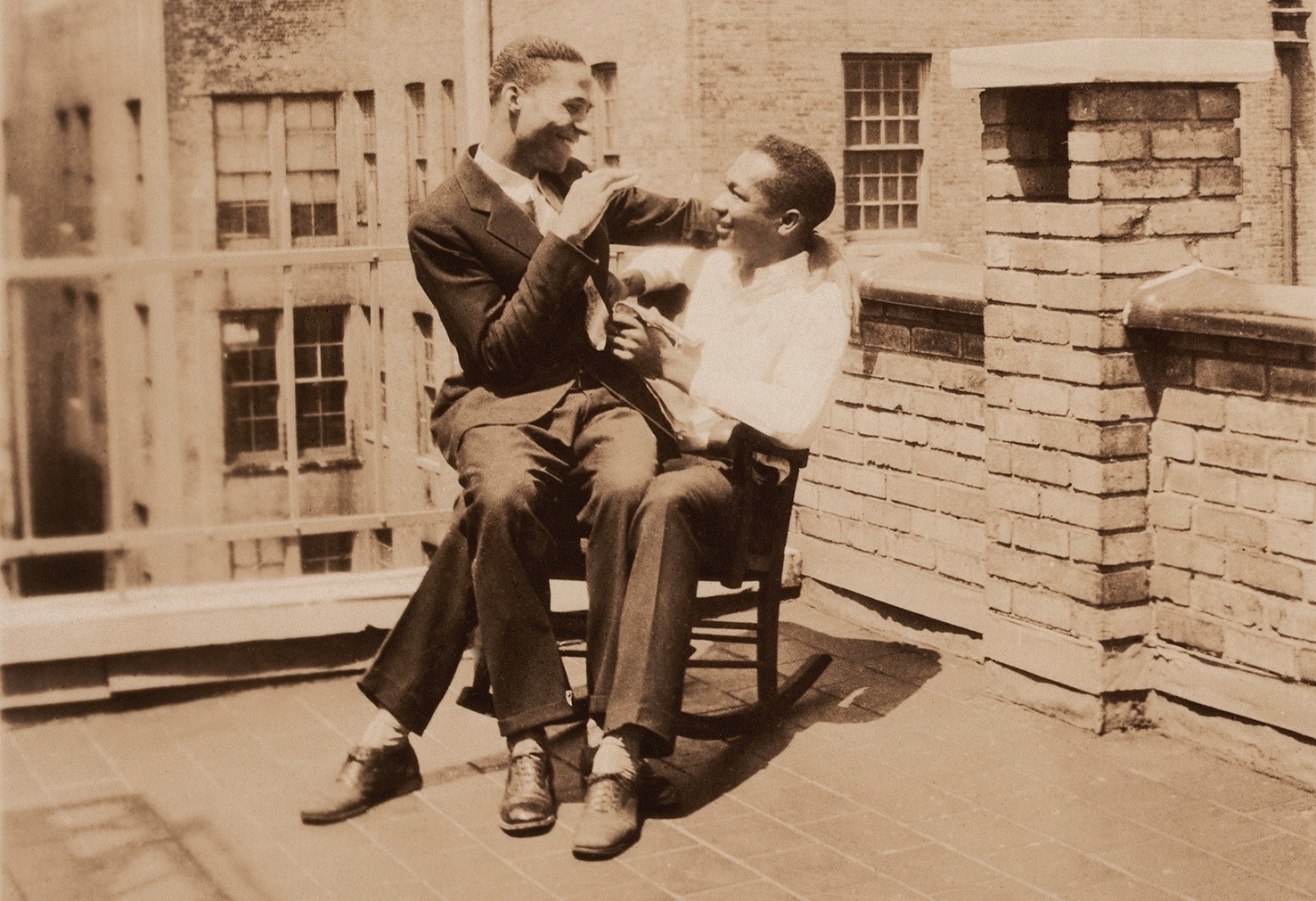 Picture of: Historical Photos Of Men In Love The Rocking Chair On The Rooftop Lgbtq Nation
