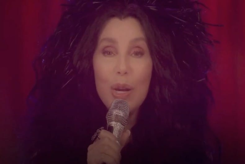Cher performs during on online benefit for presidential candidate Joe Biden