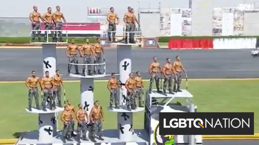 Egyptian military graduation ceremony or gay stripper parade? You decide.