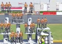 Egyptian military graduation ceremony or gay stripper parade? You decide.