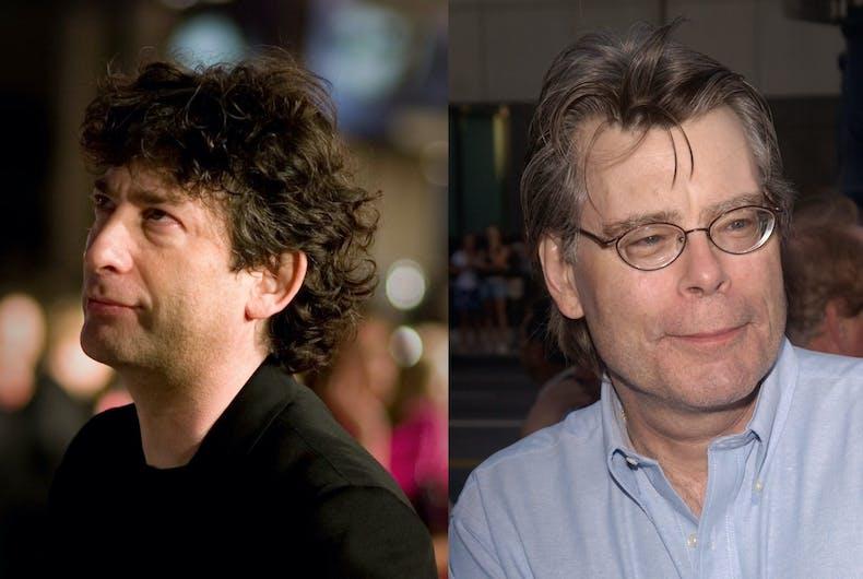 Authors Neil Gaiman and Stephen King