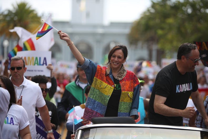 Senator Kamala Harris at the 2019 San Francisco Pride Parade