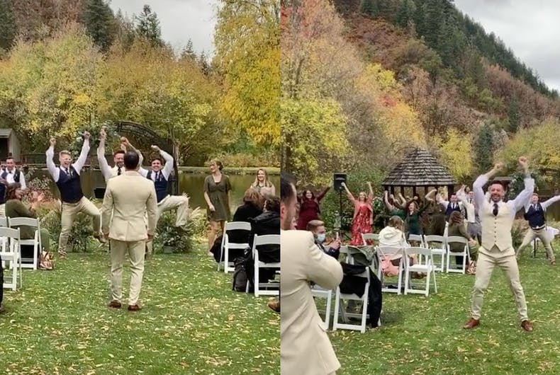 Brock Dalgleish and Riley Jay Barrington's wedding turned into a dance party