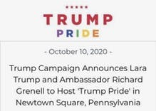 "Trump campaign will hold a ""closeted"" LGBTQ Pride rally in Pennsylvania tomorrow"