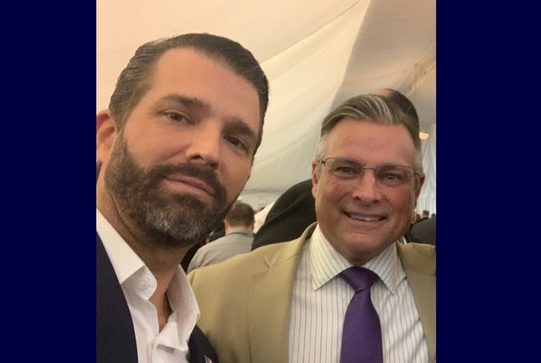 Donald Trump Jr. and John Mandt Jr.
