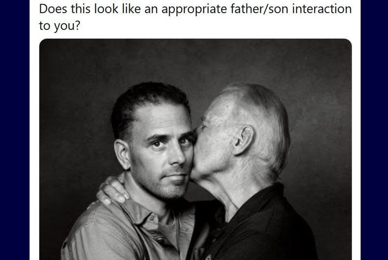 Joe Biden loving his son bothered a conservative commentator.