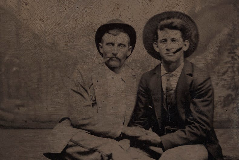 Historical photos of men in love: Can you spot the hidden clue that they're a couple?