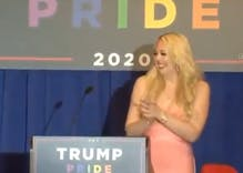 "Tiffany Trump hosts bizarre ""Trump Pride"" campaign rally"