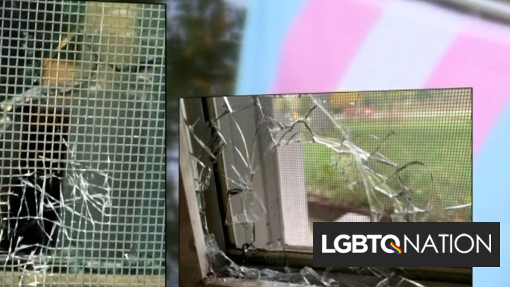Shot fired through couple's window after years of escalating anti-trans vandalism