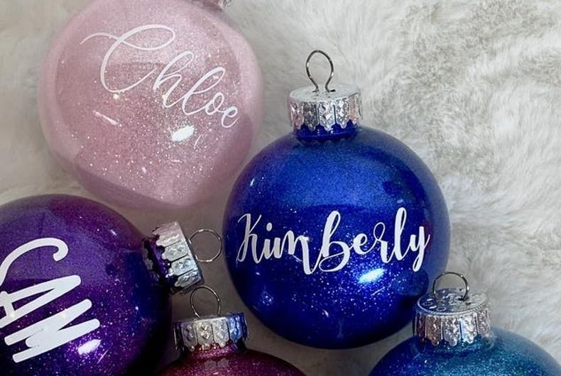 Personalized ornaments from the Rainbow Sheep Ornament Project