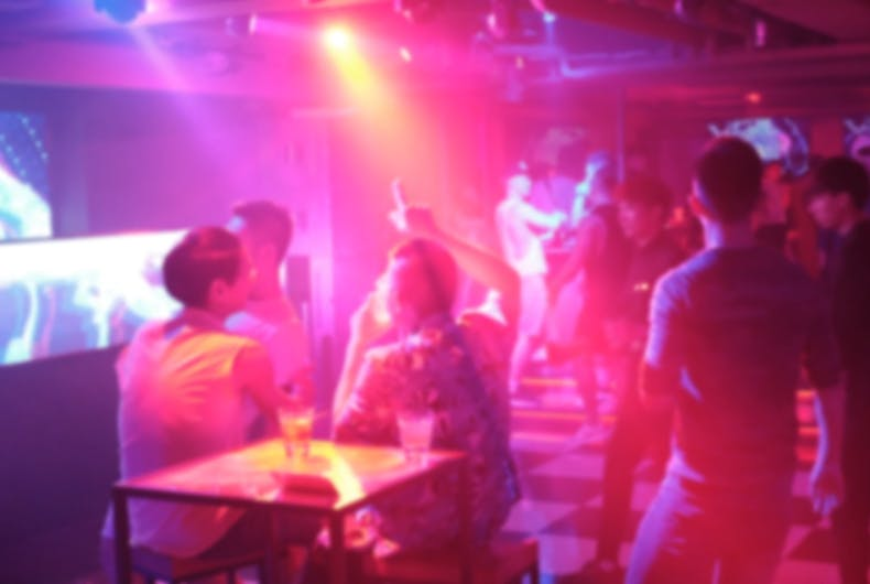 Scene from a gay bar in Taipei