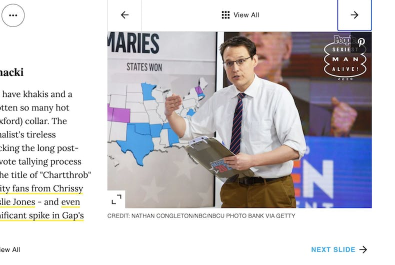 MSNBC analyst Steve Kornacki is the 12th sexiest man in America.