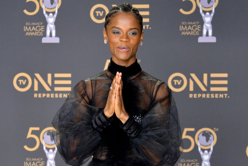 LOS ANGELES, CA. March 30, 2019: Letitia Wright at the 50th NAACP Image Awards